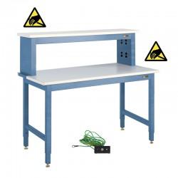 IAC ESD Electronics Workbench w/ Instrument Riser Shelf - Workmaster™