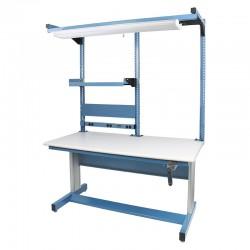 "IAC Hand Crank Height Adjustable Workbench 30""D x 60""W (930 Series with MTS-I)"