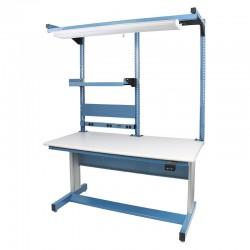 "IAC Hand Crank Height Adjustable Workbench 30""D x 60""W (940 Series with MTS-I)"