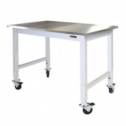 IAC Mobile / Rolling Lab Table / Bench - Stainless Steel Top