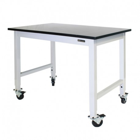 IAC Mobile / Rolling Lab Bench / Table - Epoxy Top / Adjustable Height