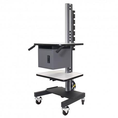IAC S3 Mobile Shipping & Receiving Cart w/ Storage Locker & Shelf