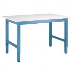"""IAC Industrial Workbench / Work Table - Heavy Duty Steel, Sky Blue, Standard Surface, 96"""" x 36"""""""