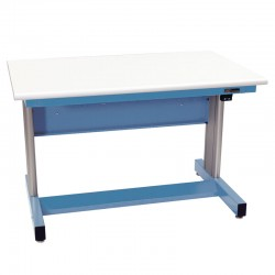 IAC Electric Height Adjustable Industiral Workbench, Sky Blue, Standard Surface
