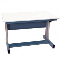 IAC Electric Height Adjustable Industrial Workbench, EZE Blue, Standard Surface