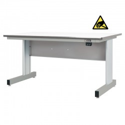 Motorized Electric Height Adjustable Industrial Workbench, Gun Metal Gray, ESD Surface